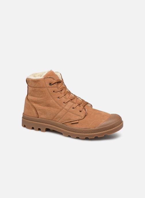 Bottines et boots Palladium Pallabrousse Lth S M Marron vue détail/paire