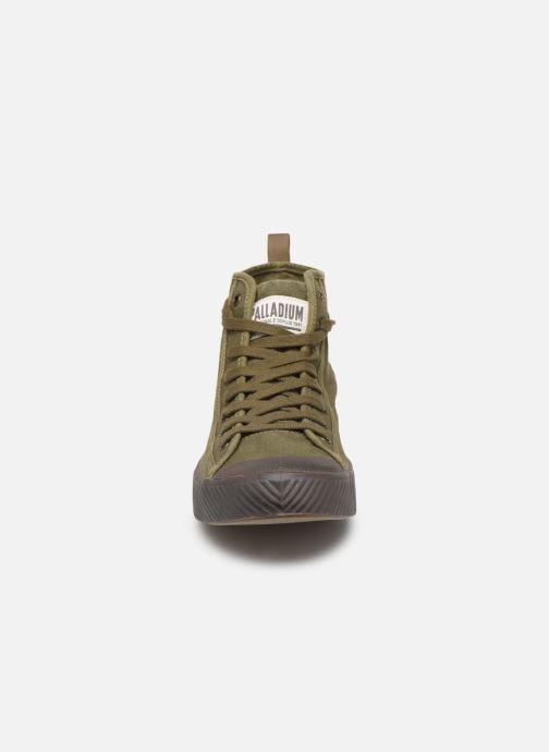 Baskets Palladium Pallaphoenix Mid Vtg U Vert vue portées chaussures