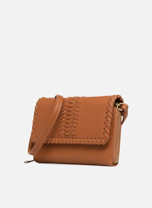 Borse Street Level Brown mini purse Marrone modello indossato