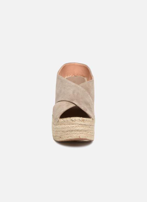 Espadrilles Sigerson Morrison ATIFA Gris vue portées chaussures