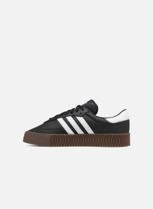 Trainers Adidas Originals Sambarose W Black front view
