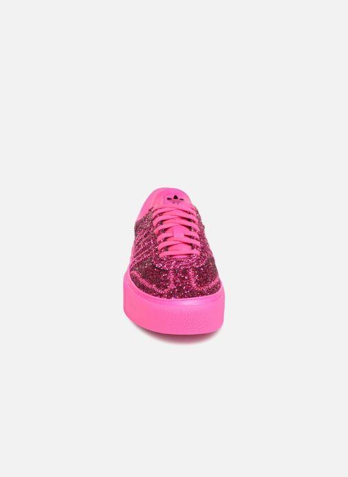 Baskets adidas originals Sambarose W Rose vue portées chaussures