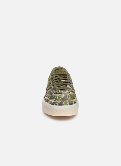 Sneaker adidas originals Sambarose W grün schuhe getragen