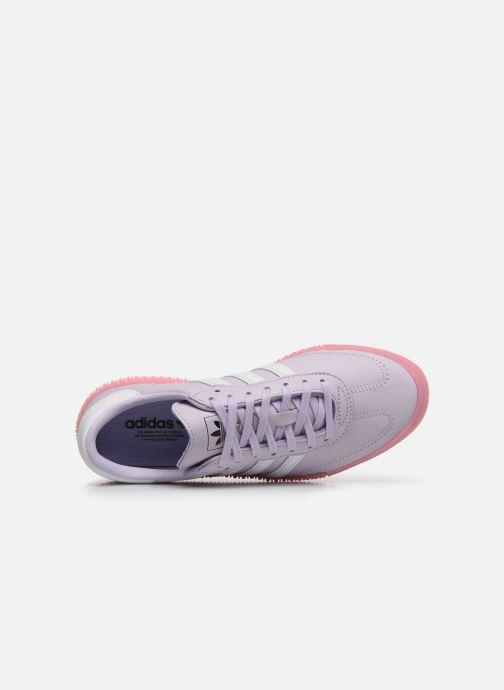 Baskets adidas originals Sambarose W Violet vue gauche