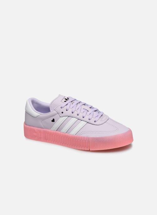 Baskets adidas originals Sambarose W Violet vue détail/paire