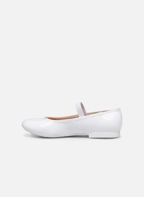 Ballerina's Geox JR Plie J8455D Wit voorkant