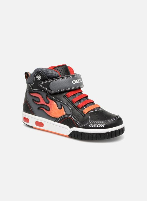 Trainers Geox JR Gregg J8447C Black detailed view/ Pair view