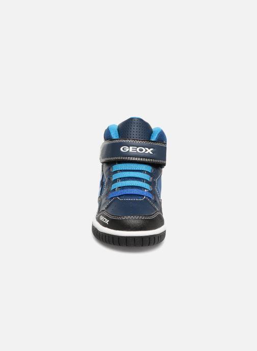 Baskets Geox JR Gregg J8447C Bleu vue portées chaussures