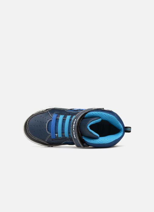 Sneaker Geox JR Gregg J8447C blau ansicht von links