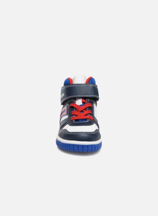 Baskets Geox JR Gregg J8447B Bleu vue portées chaussures