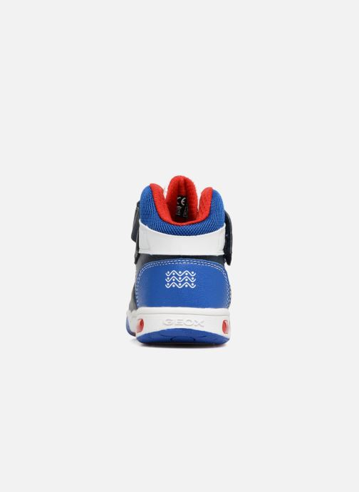 Baskets Geox JR Gregg J8447B Bleu vue droite