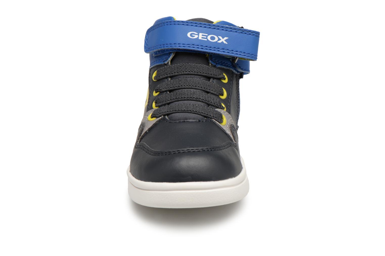 Baskets Geox B Djrock Boy B842CA Bleu vue portées chaussures