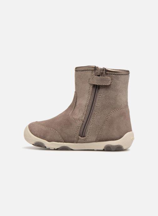 Boots & wellies Geox B New Balu Girl B840QD Beige front view