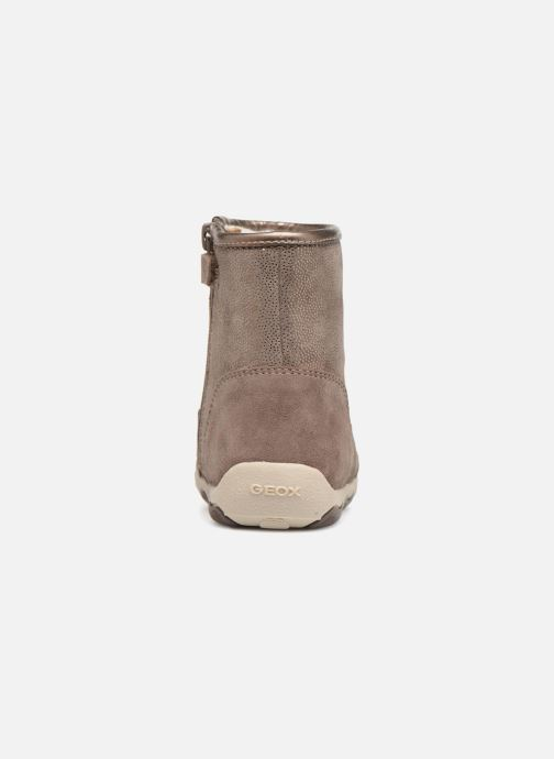 Boots & wellies Geox B New Balu Girl B840QD Beige view from the right