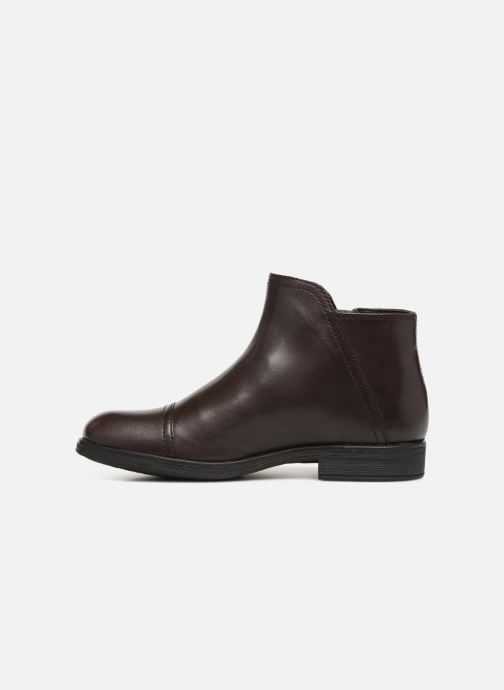 Bottines et boots Geox JR Agata J8449C Marron vue face