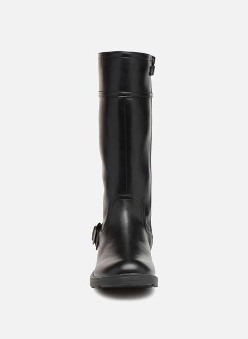 Bottes Geox JR Sofia  J84D3D Noir vue portées chaussures
