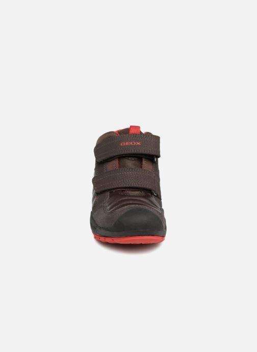 Sneaker Geox J New Savage Boy J841VC braun schuhe getragen