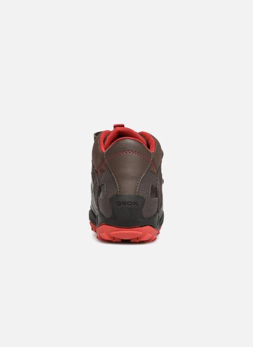 Sneaker Geox J New Savage Boy J841VC braun ansicht von rechts