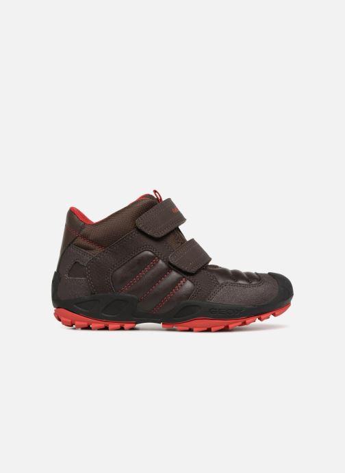 Sneaker Geox J New Savage Boy J841VC braun ansicht von hinten