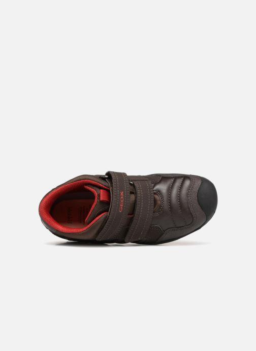 Sneaker Geox J New Savage Boy J841VC braun ansicht von links