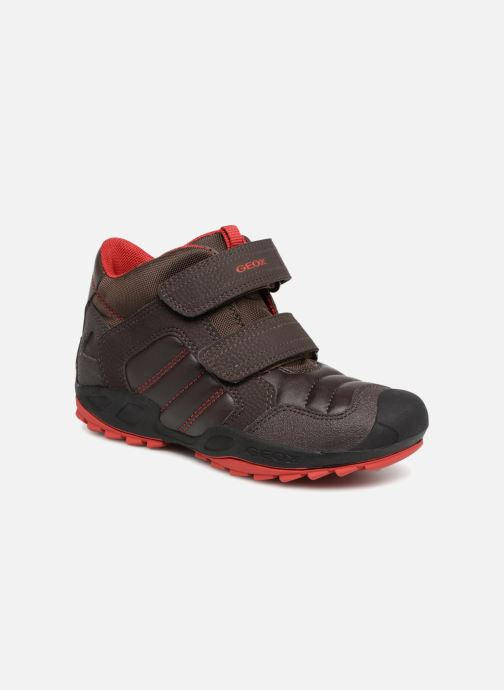 Sneaker Geox J New Savage Boy J841VC braun detaillierte ansicht/modell