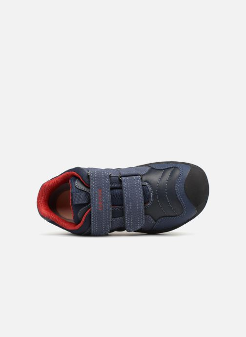 Baskets Geox J New Savage Boy J841VA Bleu vue gauche