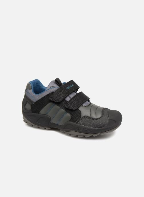 Baskets Geox J New Savage Boy J841VA Gris vue détail/paire