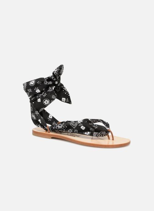 Sandales ruban noir