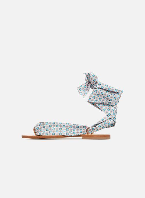 Sandales et nu-pieds Nupié Sandales ruban violet Bleu vue face