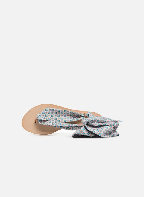 Sandales et nu-pieds Nupié Sandales ruban violet Bleu vue gauche