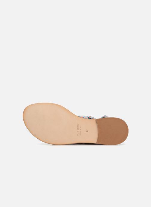 Sandales et nu-pieds Nupié Sandales ruban violet Bleu vue haut