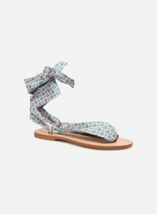 Sandales et nu-pieds Nupié Sandales ruban violet Bleu vue détail/paire
