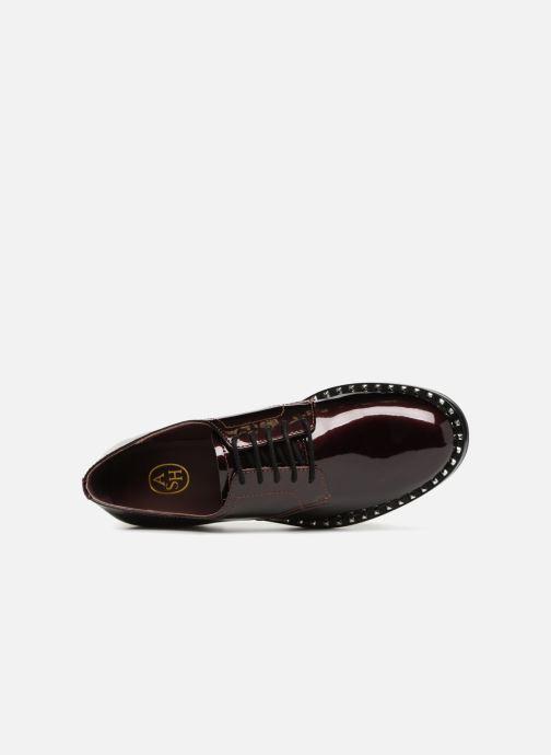 Chaussures à lacets Ash Wilco Bordeaux vue gauche