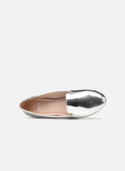 Mocasines I Love Shoes Mcbila Plateado vista lateral izquierda