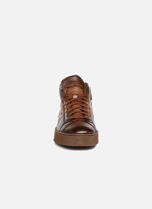 Baskets Santoni Gloria 20851 Marron vue portées chaussures