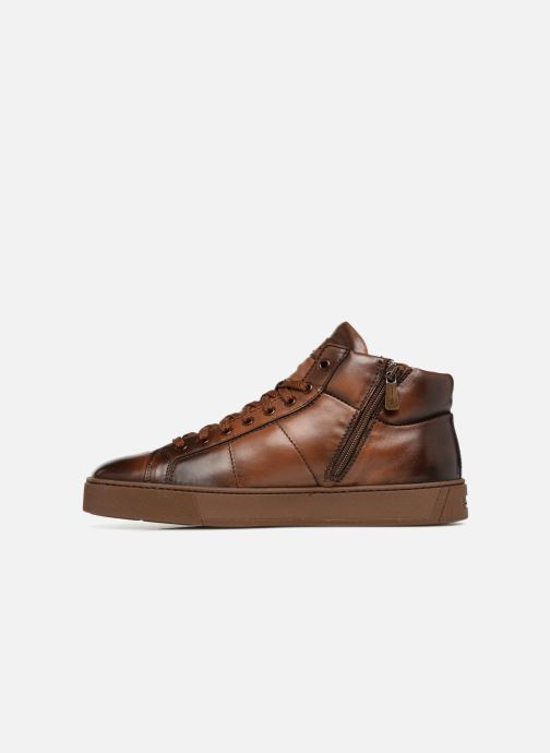 Trainers Santoni Gloria 20851 Brown front view