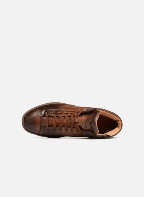 Trainers Santoni Gloria 20851 Brown view from the left