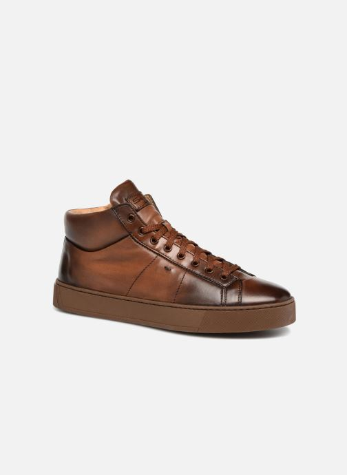 Trainers Santoni Gloria 20851 Brown detailed view/ Pair view