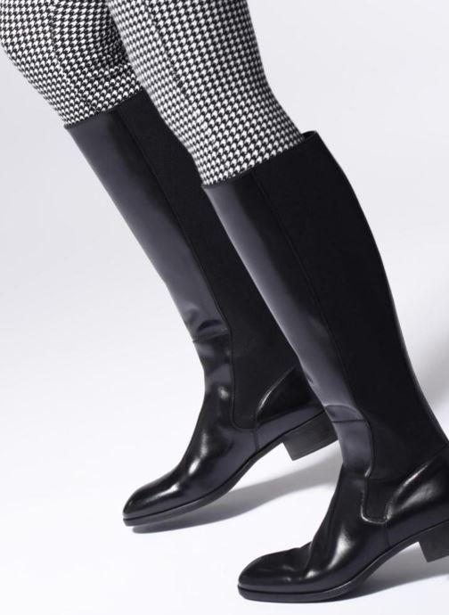 Boots & wellies Santoni Elodie 56081 Black view from underneath / model view