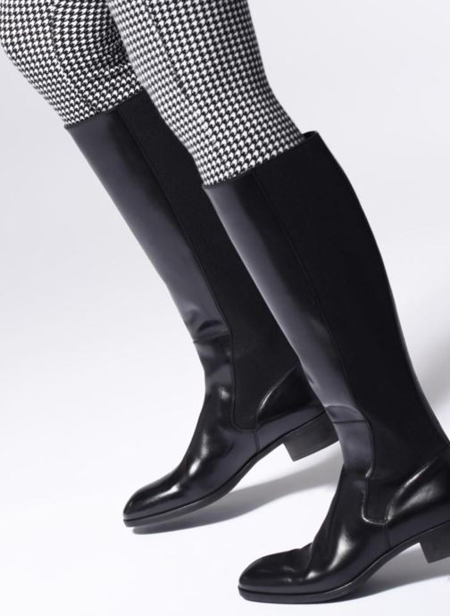 Boots & wellies Santoni Elodie 56081 Black view from underneath / model view