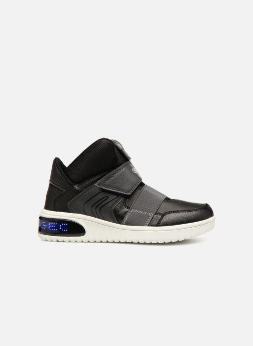 Sneakers Geox J Xled Zwart achterkant