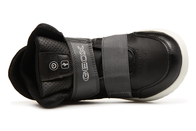 Sneakers Geox J Xled Zwart links