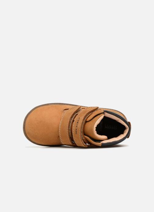 Boots en enkellaarsjes Geox B Hynde Boy WPF B842HA Bruin links