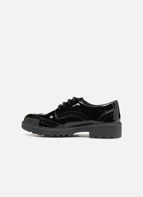 Zapatos con cordones Geox J Casey Girl J6420N Negro vista de frente