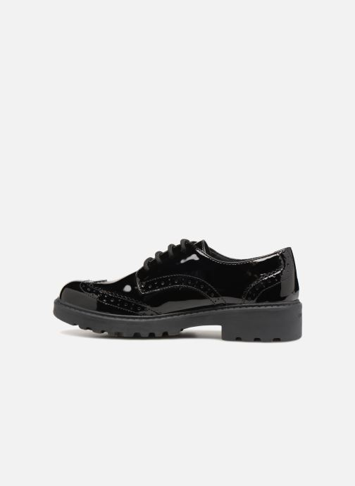 Lace-up shoes Geox J Casey Girl J6420N Black front view