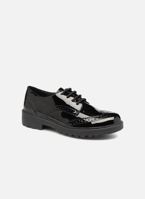 Lace-up shoes Geox J Casey Girl J6420N Black detailed view/ Pair view