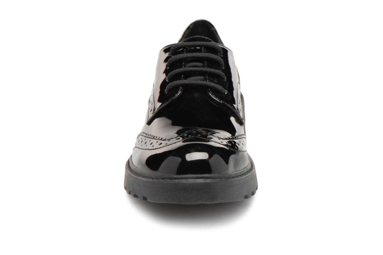 Schnürschuhe Geox J Casey Girl J6420N schwarz schuhe getragen