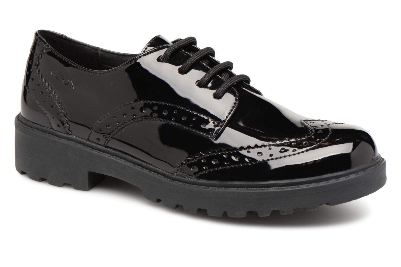 Schnürschuhe Geox J Casey Girl J6420N schwarz detaillierte ansicht/modell