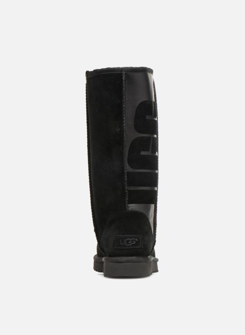 Bottes UGG W Classic Tall UGG Rubber Noir vue droite
