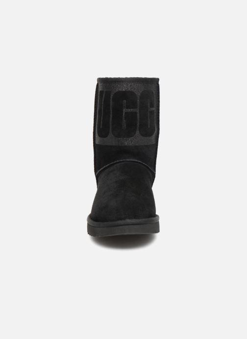 Stövlar & gummistövlar UGG W Classic Short UGG Sparkle Svart bild av skorna på